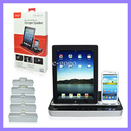 Wholesale Docking Station For S3 - IPEGA Charger Docking Station + Stereo Speaker For tablet pc for Samsung S2 S3 S4