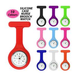 Argentina Envío gratis- Multi colores enfermera broche Fob túnica reloj enfermera reloj Clip Reloj de bolsillo hotsales 10pcs / lot Suministro