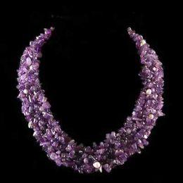 Canada Collier de bijoux en argent améthyste belle naturelle Offre