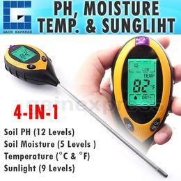 Wholesale Measuring Ph - ZD-07 4 in 1 Digital pH Meter measure Soil PH  Temperature   Moisture   Sunlight Tester with Backlight