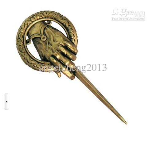 vintage Retro Game OF throne King of the hands of ancient bronze brooch assorted 10pcs.lot