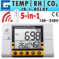 Wholesale Co2 Meter Air - CO22 Digital Wall Mount Indoor Air Quality Temperature RH Carbon Dioxide CO2 Monitor Meter Sensor Controller 0~2000ppm Range