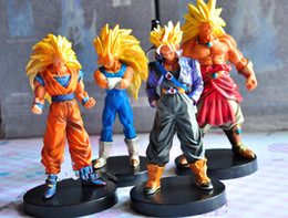 Wholesale Dragonball Figures - Anime Dragon Ball Z PVC Figures Toy Doll Super Saiyan Monkey King Brogli Dragonball Collection