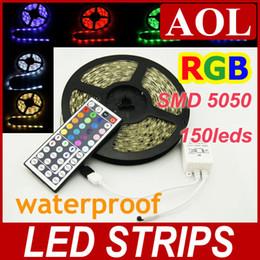 2019 светодиодные лампы для кемпинга 5050smd Сид RGB светодиодные полосы света 5M 150 светодиодных 36Вт водонепроницаемый + 44keys дистанционного мульти-цвета светодиодной строки праздник