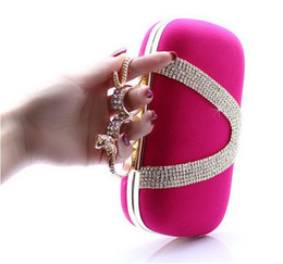 Wholesale Knuckle Ring Clutches - new snakehead design Ladies'noble Clutch Knuckle Rings bag, Four Fingers Evening Bag with Shoul