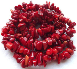 """Wholesale Coral Chips - Red Sea Bamboo Coral Chips Natural Chips Loose Beads Gemstone Freeform DIY Beads 34 """""""