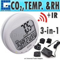 Wholesale Co2 Humidity Meter - CO87 Digital 3-in1 Round Desktop Indoor Air Quality Temperature Humidity RH Carbon Dioxide CO2 Monitor Meter Clock 0~2000ppm