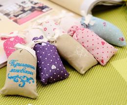 Wholesale Cheap Stock Fabric - Cheap Handmade Fragrance Sachets Perfume Bag Pendant with Vermiculite inside Air Freshener for Car Closet Bedroom 10pcs lot