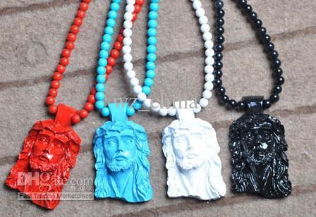 Collana di perline acrilico di goodwood di buona vendita di NYC della collana popolare calda di legno di Goodwood di Gesù 36inch Trasporto libero