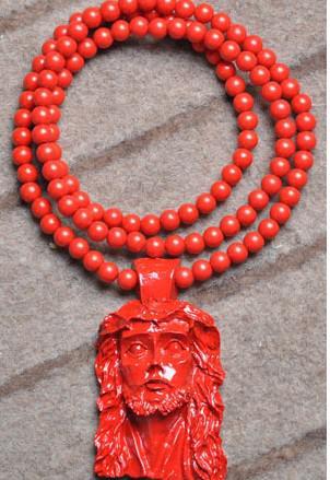Bon bois NYC Vente Chaude Populaire Hip Hop Collier Jésus goodwood acrylique Perle Collier 36 pouces Livraison Gratuite