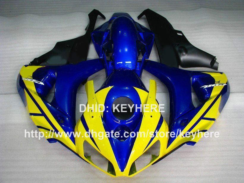 Kit carena in plastica ABS HONDA CBR1000RR 06 07 CBR 1000RR 2006 2007 carene parti moto carrozzeria aftermarket giallo blu nero G1a