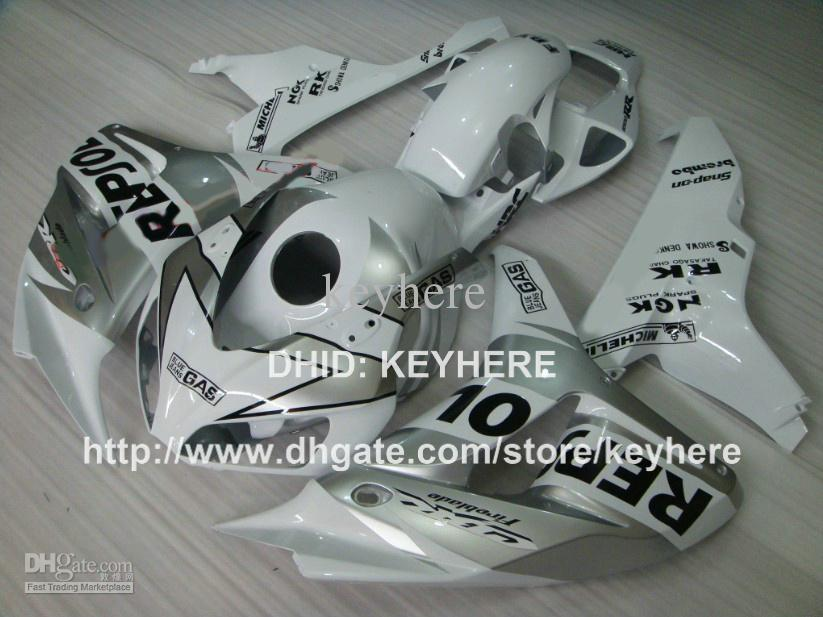 ABS Plastic fairing kit for HONDA CBR1000RR 06 07 CBR 1000RR 2006 2007 fairings motorcycle parts body work aftermarket silver REPSOL G2a