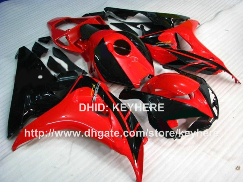 Custom race fairing kit for HONDA CBR1000RR 06 07 CBR 1000RR 2006 2007 fairings motorcycle parts body work set aftermarket new red black G4a