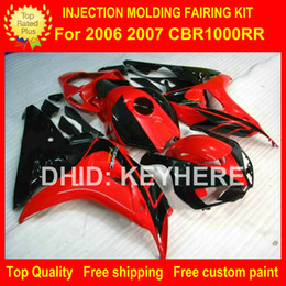 $enCountryForm.capitalKeyWord Canada - Custom race fairing kit for HONDA CBR1000RR 06 07 CBR 1000RR 2006 2007 fairings motorcycle parts body work set aftermarket new red black G4a