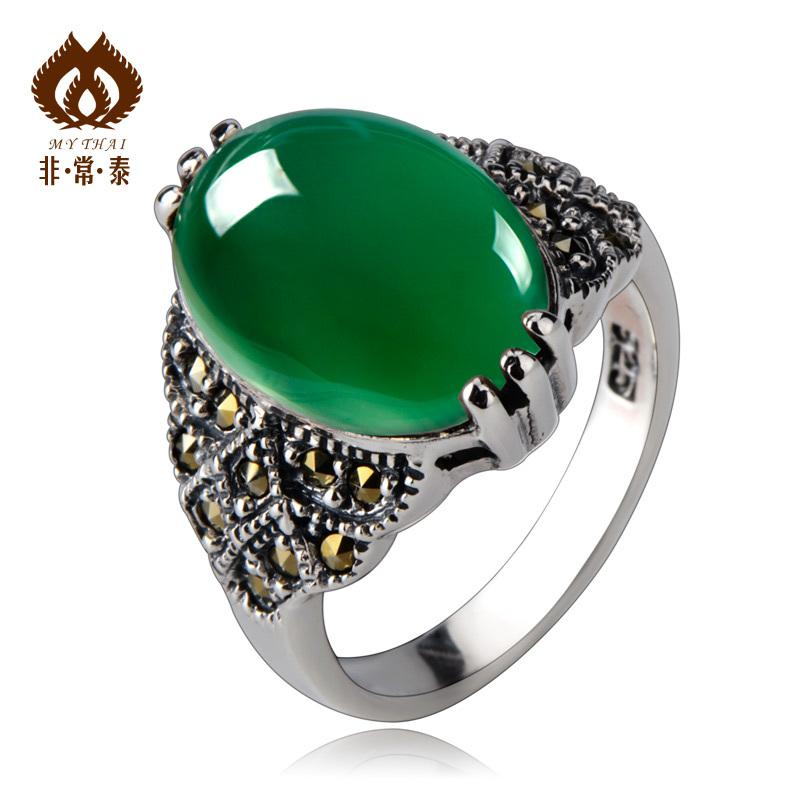 2018 Thai Silver 925 Sterling Silver Rings Women Jewelry Natural ...