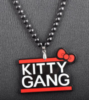Wholesale Good Wood Gang - Kitty Gang goodwood good wood nyc acrylic hiphop necklace