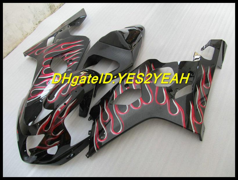 Kit de cuerpo de carenado negro mate para SUZUKI GSXR 600 750 K4 2004 2005 Carrocería GSXR600 GSXR750 04 05 Conjunto de carenados + regalos