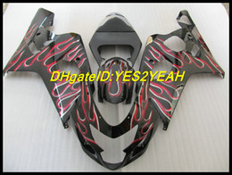 Wholesale K4 Fairings - Matte Black Fairing for SUZUKI GSXR 600 750 K4 2004 2005 GSXR600 GSXR750 04 05 Fairings set+7gifts