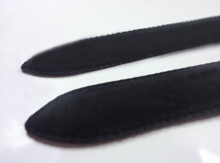 Arquivos de unhas de vidro Arquivos de cristal Buffer de unhas do prego com manga de veludo preto 3.5
