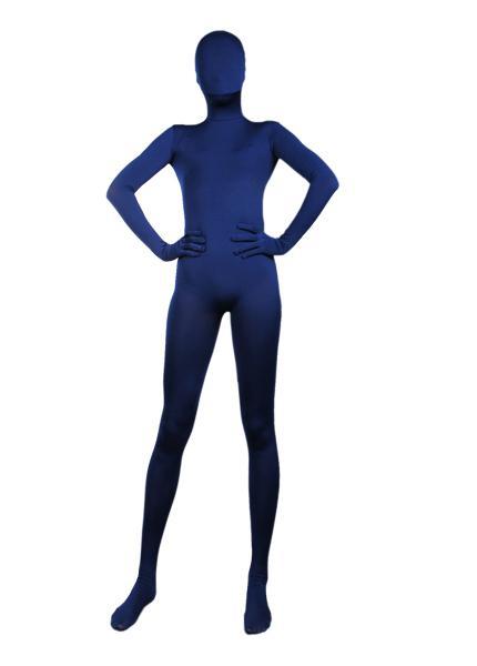 Nuevo traje azul marino de cuerpo entero de lycra spandex zentai S-XXL - Venta al por mayor