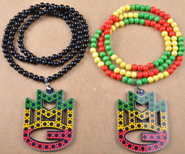 Wholesale Good Wood Music - New Arrival Freeshipping MMG Music 30 inch hip hop charm Acrylic necklace good wood pendant jewelry