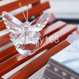Wholesale Crystal Wedding Party Favors - Unique Wedding Favors crystal gifts wedding decoration of crystal gift of crystal butterfly Decoration wedding party gifts