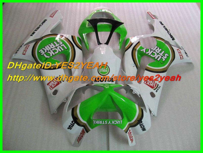 Kit de carénage pour moulage par injection Pour KAWASAKI Ninja ZX6R 03 04 ZX-6R 636 ZX 6R 2003 2004 Ensemble de carénages vert blanc + 7gifts