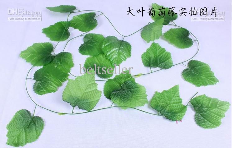 2.4 M longue Simulation de Artificielle Vert Escalade Vignes de Feuilles de Grape pour Party Home Wall Decor livraison gratuite