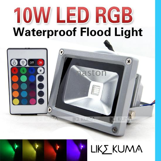 10W RGB-schijnwerper LED Bright High Power 85-265V Waterdichte Buiten Flood Light Lamp Hoge Kwaliteit Gratis verzending
