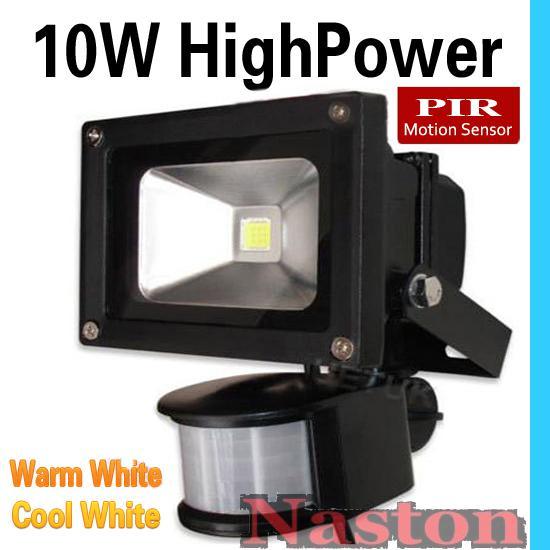 10 W LED 20 W 30 W proiettori PIR passivo sensore di movimento a infrarossi luce di inondazione o sensore umano luce sicurezza interna / esterna spedizione gratuita