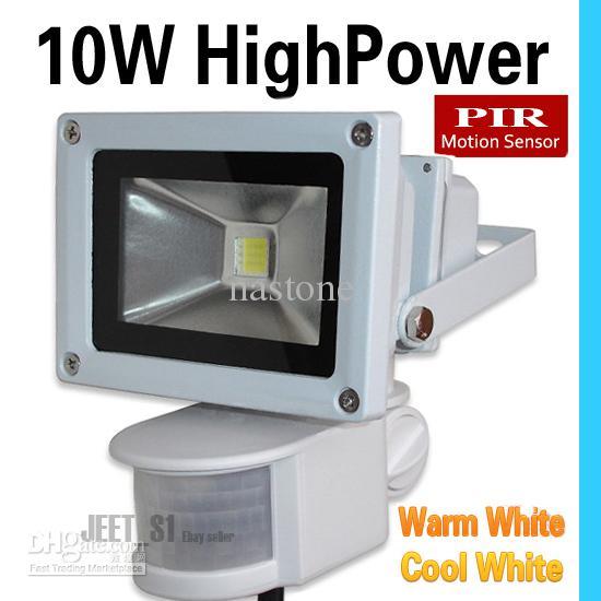 투광 램프 10W 20W 30W는 PIR 회색 쉘 수동 적외선 모션 센서 실내 / 실외 보안 램프 홍수 빛 또는 인간 센서 라이트를 LED