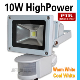 Wholesale Infrared Light Outdoor - Floodlights 10W 20W 30W LED PIR Grey shell Passive Infrared Motion Sensor Flood light Or Human sensor light for Indoor Outdoor Security lamp