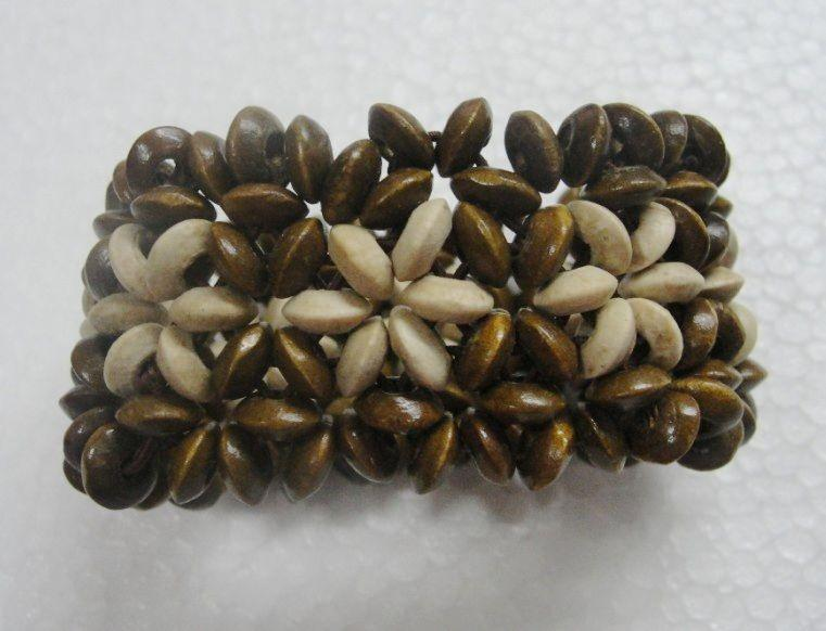 Nueva llegada es Nature Wood Beads Bracelet Wooden Elasticity Bracelet Fashion Jewelry /