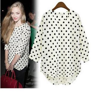 Best Quality 2013 New Casual Women Shirt Polka Dot Japanese Loose ...