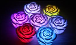 2019 décorations de mariage de citrouilles blanches Vente chaude led rose led lumières a augmenté flash rose nuit lumières concert