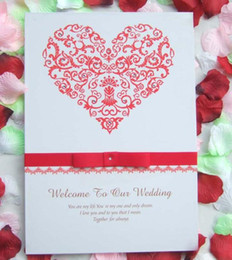 Wholesale Hot Book Design - Kissbridal New Wedding Events Wedding Favors Rhinestone Wedding Guest Books Hot Red attendance book Western Style Fashion Design XF0139