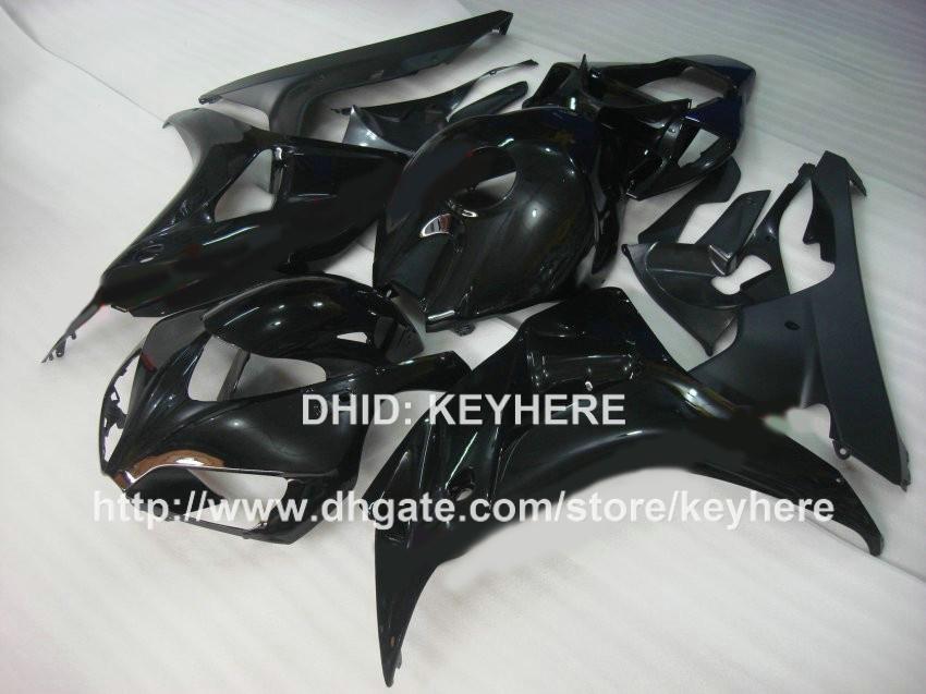 ABS Plastic fairing kit for HONDA CBR1000RR 06 07 CBR-1000RR 2006 2007 fairings motorcycle parts bodywork set aftermarket all black Gb