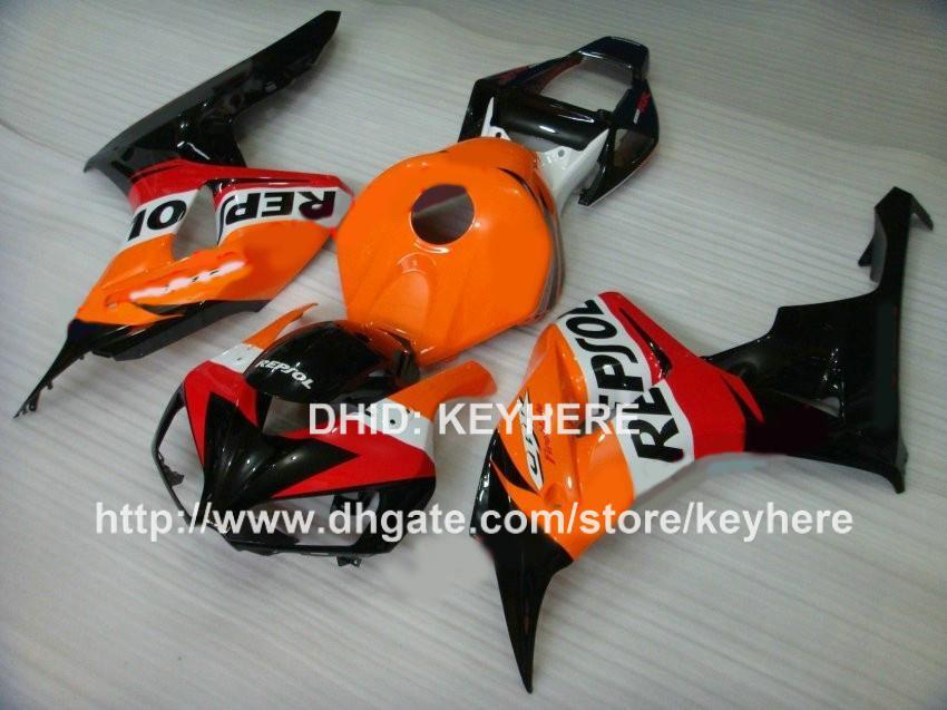 Custom Race Fairing Kit voor HONDA CBR1000RR 06 07 CBR 1000RR 2006 2007 Backings Motorcycle Body Work Aftermarket Hot Slae Orange Repsola GA