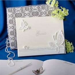 Kissbridal New Wedding Ceremony Accessori Bomboniere Rifornimenti per feste Bella resina nobile Farfalla bianca Libro degli ospiti di nozze XF141