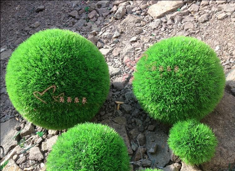 30 cm kunstmatige plastic groen gras bal opknoping gras bal thuis party decor /