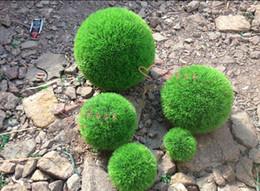 $enCountryForm.capitalKeyWord NZ - 30CM Artificial Plastic GREEN GRASS BALL Hanging Grass Ball home party Decor 1pcs lot