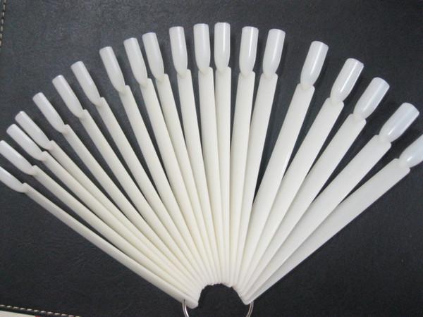 50 tips Fan-Shaped Nail Art Display Natural Chart for Polish Gel Display Tools#097