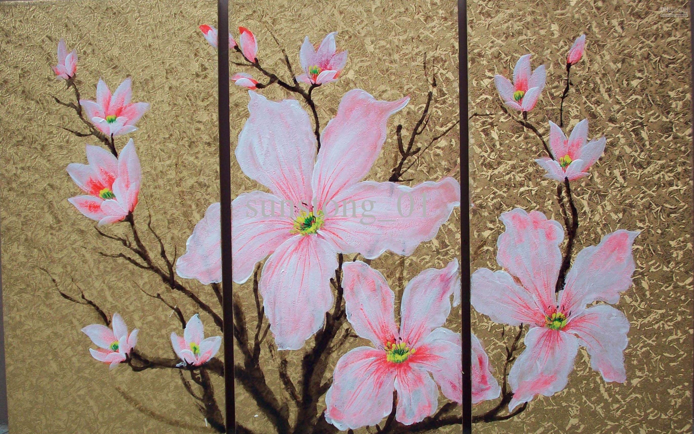 Impression fresh winter pink flowers group oil painting home impression fresh winter pink flowers group oil painting home decoration group painting wall art on canvas group oil painting home decoration painting mightylinksfo