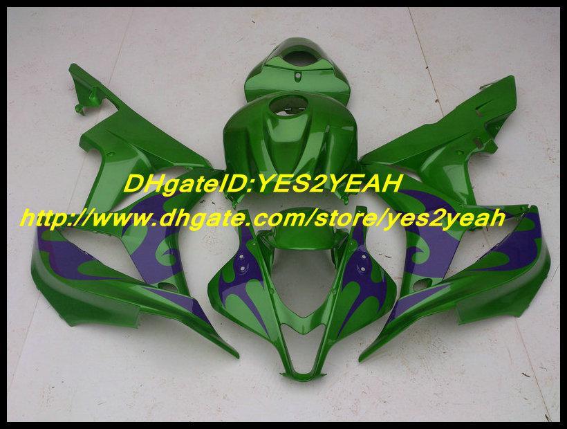 Injektionsfeedningar för Honfa CBR600RR CBR 600RR F5 2007 2008 Bodywork CBR 600 RR 07 08 Lila Green Fairing Body Kit