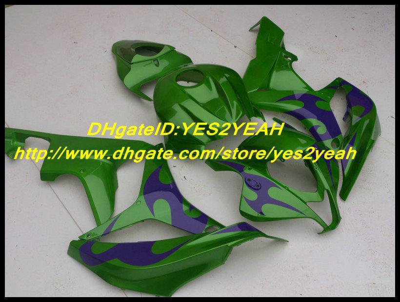 Conjunto de Carimbos de Injeção Para HONFA CBR600RR CBR 600RR F5 2007 2008 Carroçaria CBR 600 RR 07 08 Carroceria de Carenagem Verde Roxo