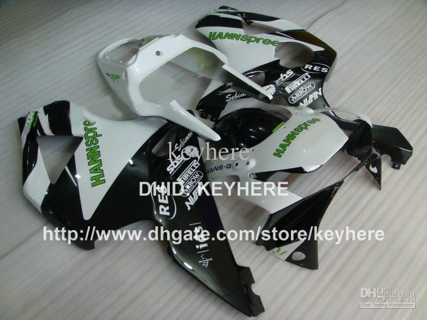 Kit de carenagem ABS plástico para HONDA CBR900RR 02 03 CBR900RR 954 2002 2003 CBR954RR 02 03 carenagem conjunto de carroçaria aftermarket HANNspree branco G3a