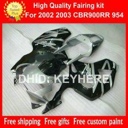 Wholesale Fairing Motorcycle Honda 954 - Motorcycle fairings for HONDA CBR900RR 02 03 CBR900RR 954 2002 2003 CBR954RR 02 03 fairing set bodywork set aftermarket hot gary black G2b