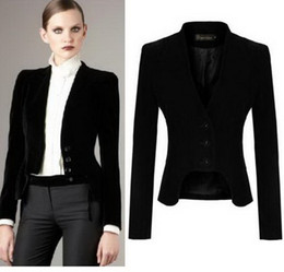 Wholesale korean lady s new coat - Hot Sale New Korean Women Slim Suit Jacket Coat Black S M L XL ladies casual outwear free shipping #DT177
