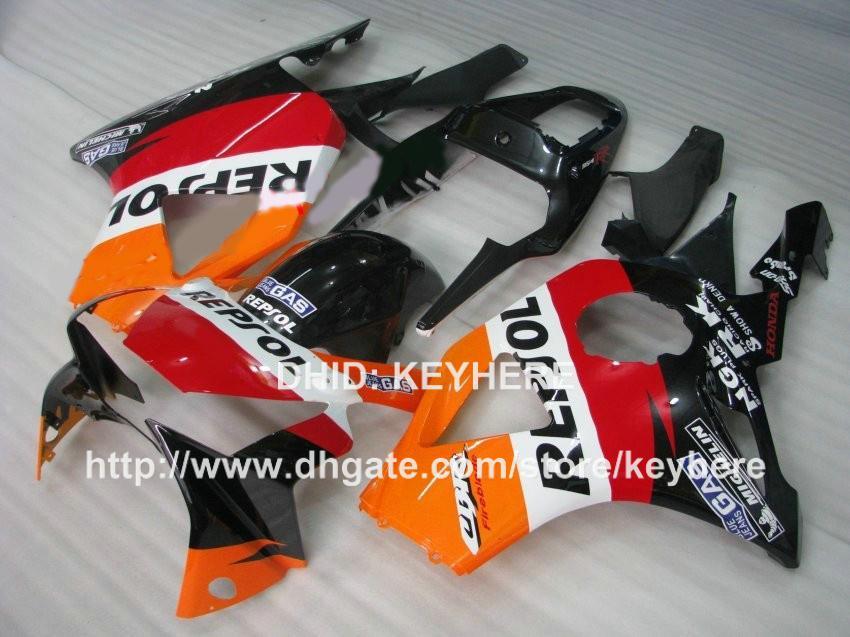 Kit de carénage en plastique ABS pour HONDA CBR900RR 2002 2003 CBR900RR 954 02 03 954RR 02 03 carénage jeu de carrosserie après-vente orange REPSOL rouge G7a