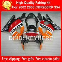 Wholesale Honda 954 Fairing Red - ABS Plastic fairing kit for HONDA CBR900RR 2002 2003 CBR900RR 954 02 03 954RR 02 03 fairings bodywork set aftermarket orange REPSOL red G7a